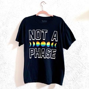 It's not a phase black moon rainbow Tee size  L
